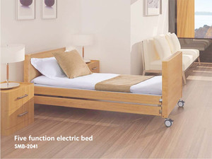 Hospital Home Care Electric Bed Wooden Finish.jpg