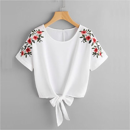 100% Organic Embroidered Top