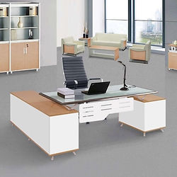 Full collection with modular structure and Glass tops