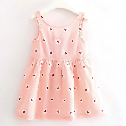 Pink Sunflower Dress for Girls
