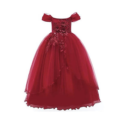 Off Shoulder Party Gown for Girls