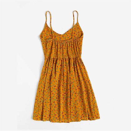 Short Summer Dress with Shoulder Straps