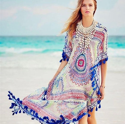 Beachwear Sexy Bohemian Printed Dress