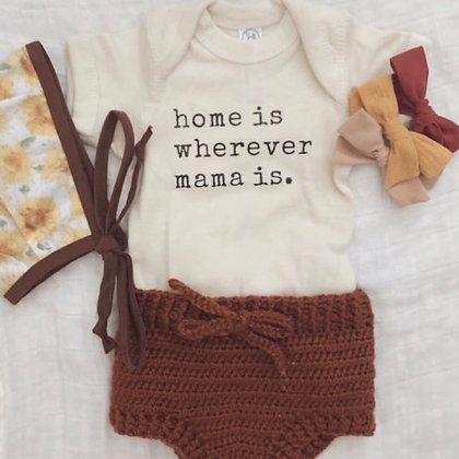 Knitted Top and Crochet Shorts for babies