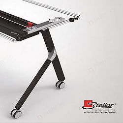 Folding tables for offices and institutions