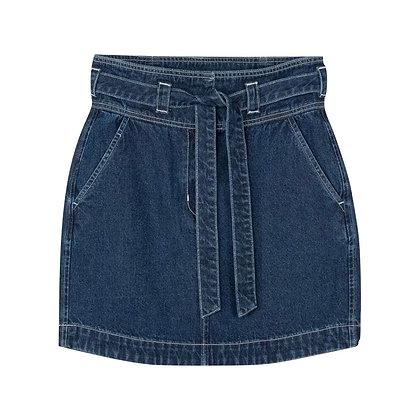 Mid Length Denim Skirt for Girls