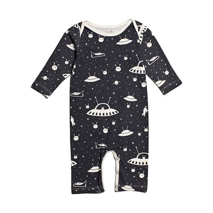 Pure Cotton Aliens Printed Romper for Babies