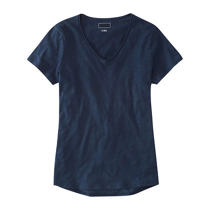 100% Organic Cotton Knit T-Shirt with V Neck