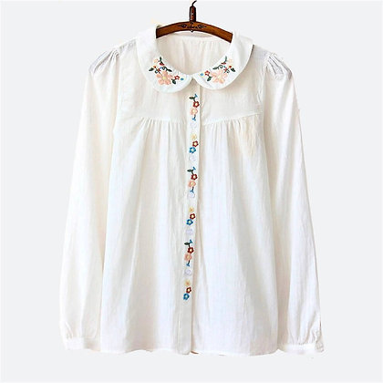 100% Organic Long Sleeve Embroidered Shirt
