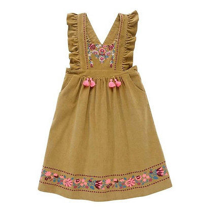 Sleeveless Summer Dress for Girls with Cute Tassels and Embroidery