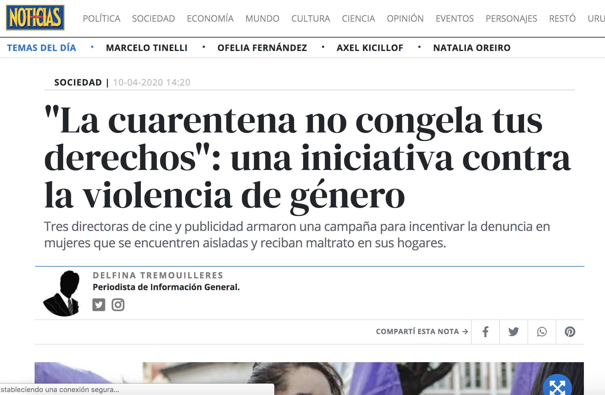 Noticias - #AislamientoNoEsSilencio