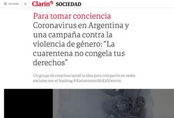Clarín #AislamientoNoEsSilencio