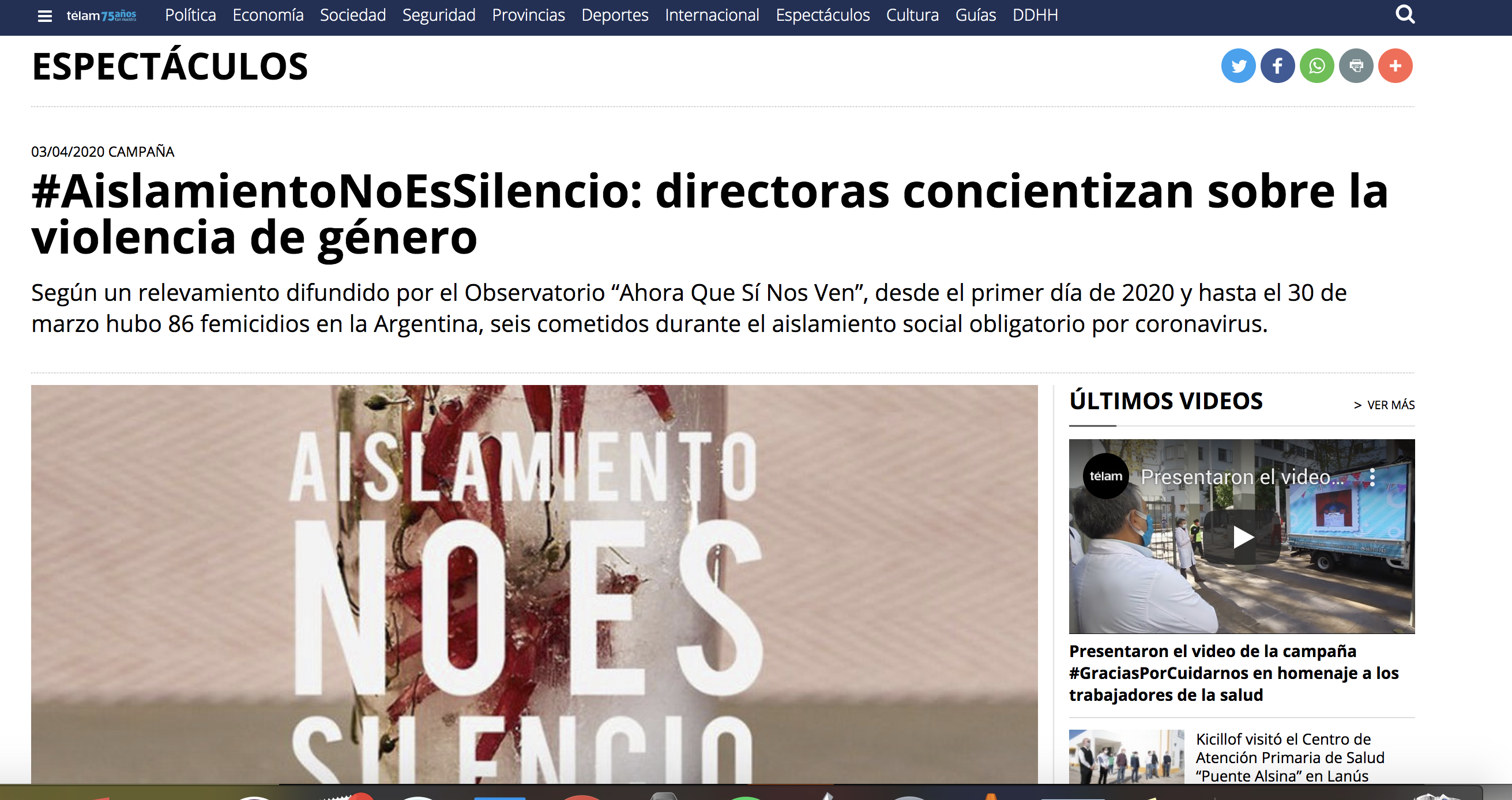 Telam #AislamientoNoEsSilencio