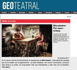 Geo Teatral - Microteatro