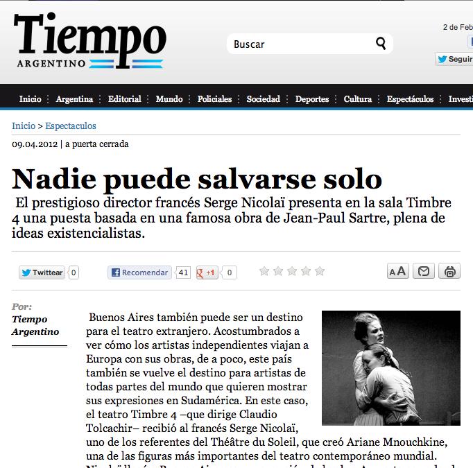 Tiempo Argentino newspaper