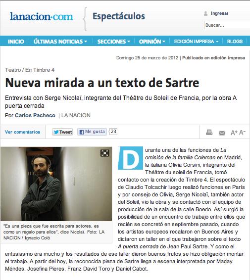 La Nacion newspaper