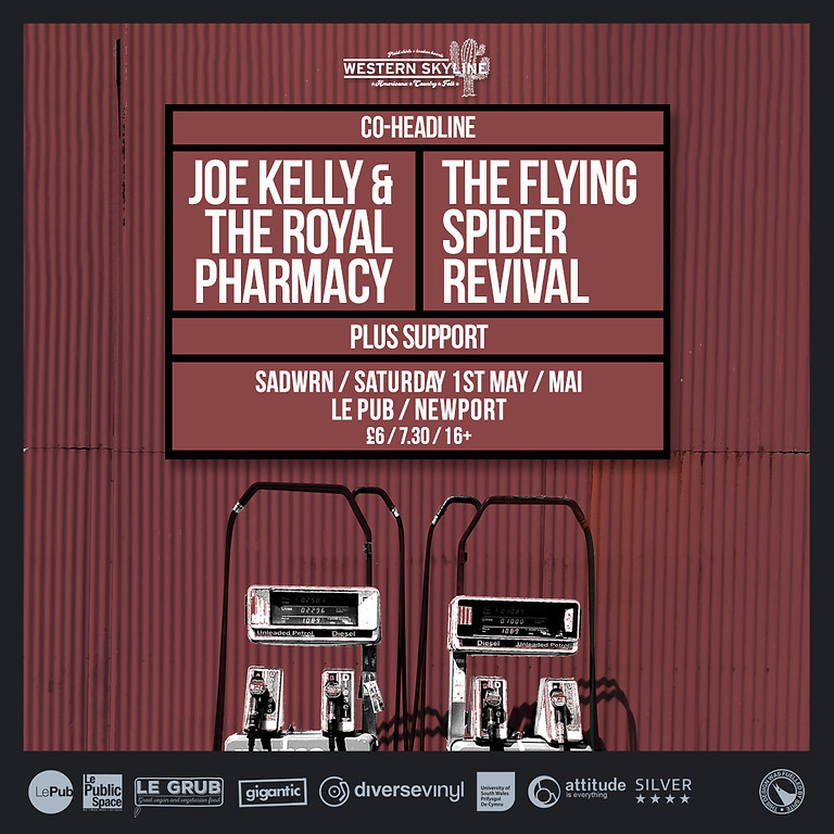Joe Kelly & The Royal Pharmacy + The Flying Spider Revival Co Headline