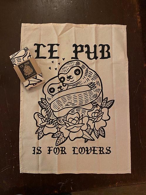 Le Pub Is For Lovers Tea Towel