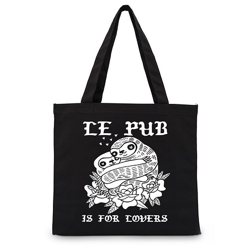 Le Pub Is For Lovers Sloth Tote Bag