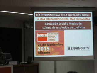 Participación en el Día Internacional de la Educación Social en Alicante.