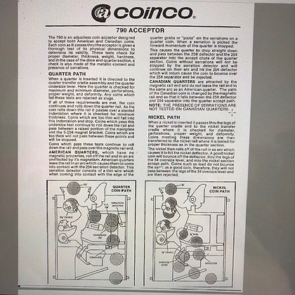 Coinco 790 Coin Acceptor Manual  sent PDF