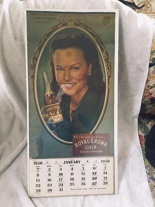 RC Cola 1950 Wanda Hendrix Calendar in original Wrap