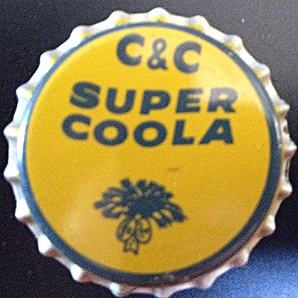 C & C Super Coola Bottle Cap, unused, www.nostalgia-tymes.com