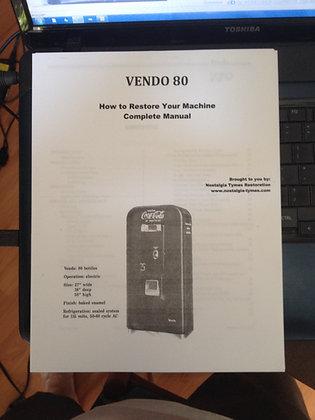 Vendo 80 Service Manual sent in PDF format