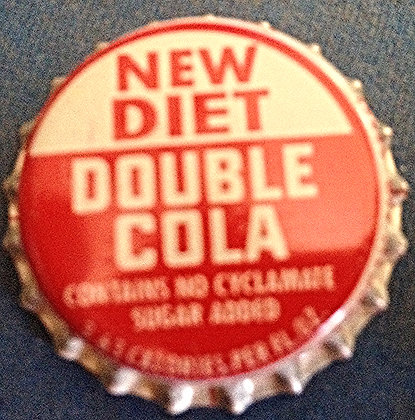 New Diet Double Cola Bottle Cap, Unused, Nostalgia Tymes