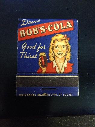 1940's Bob's Cola Matches, Full Book