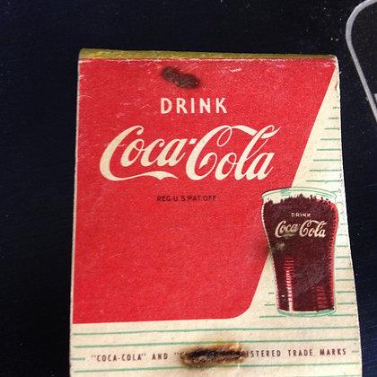 1940's Coca Cola Matches, Full Book