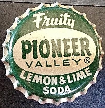 50's Pioneer Valley Lemon Lime Bottle cap Unused
