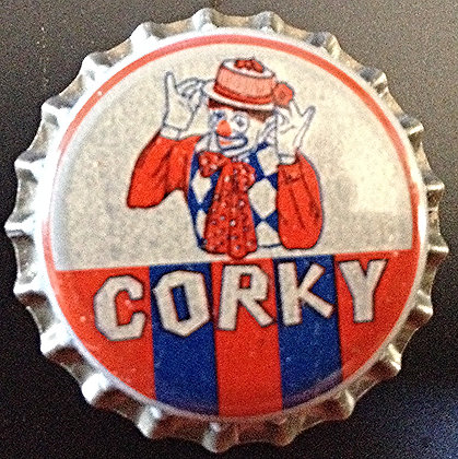 50's Unused Cork Lined Soda Cap Corky Clown