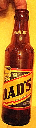 Dads Root Beer 7oz Amber Glass Bottle  NICE