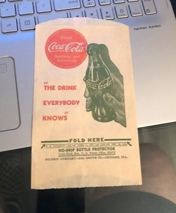 """""""The Drink Everybody Knows""""    No Drip Holder"""