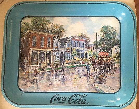 Coca-Cola Tray 1992 Dresden Village