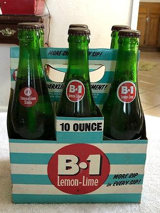 B-1 Lemon Lime Soda Complete 10oz 6 Pack Full Bottles