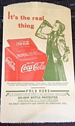 1930's Coca-Cola NO-DRIP BOTTLE PROTECTOR