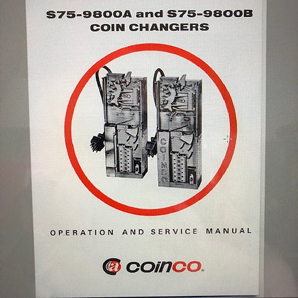 Coinco S75 9800A & S75 9800B Coin Changer Manual sent PDF