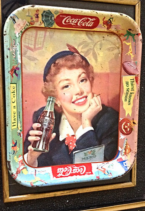 Coca-Cola Serving Tray 1953 Menu Girl