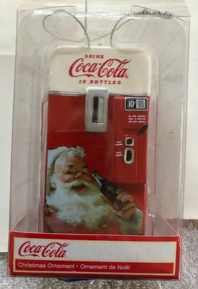 Vintage Coca Cola Vending Machine Christmas Ornament