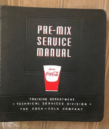 Coca-Cola Premix Complete original Manual 1960's