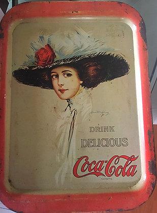 Coca-Cola Girl Serving Tray 1972