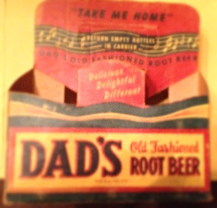 Dads Root Beer Carton from the 40's