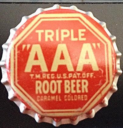 """Unused Triple """"AAA"""" Root Beer Cork Lined Bottle Ca"""