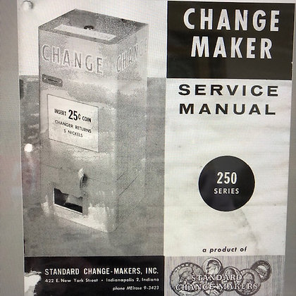 Change Maker Service Manual Series 250  sent PDF