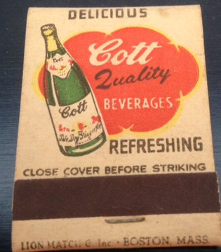 Cott Beverages  Matches 1950's  Full Book
