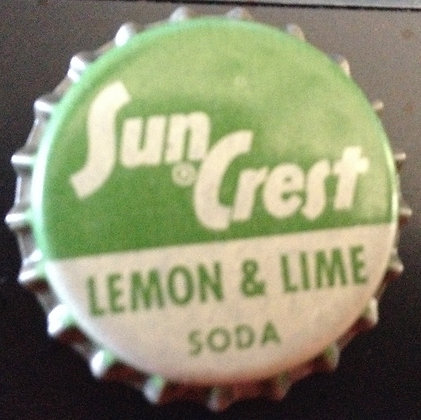 50's Sun Crest Lemon Lime Bottle Cap (Cork) Unused