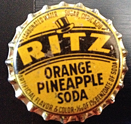 40's Ritz Or/Pineapple Soda Bottle Cap Unused