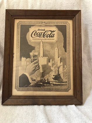 Coca Cola Framed ad from 1909 (original)